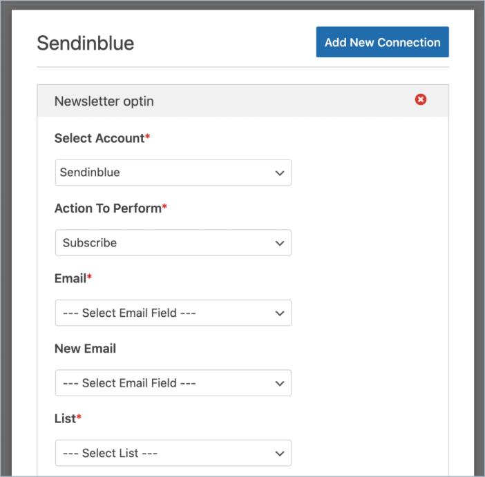 Configure subscribe settings for sendinblue in WPForms