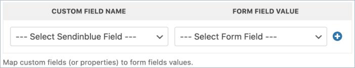 Custom Sendinblue fields in WPForms