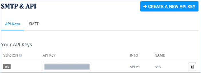 Sendinblue API key