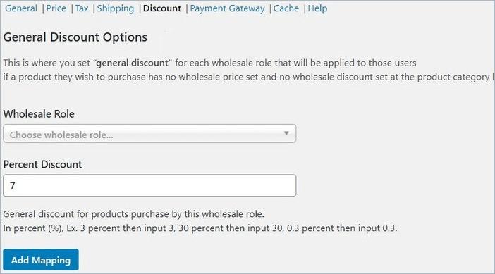 Wholesale Price discount
