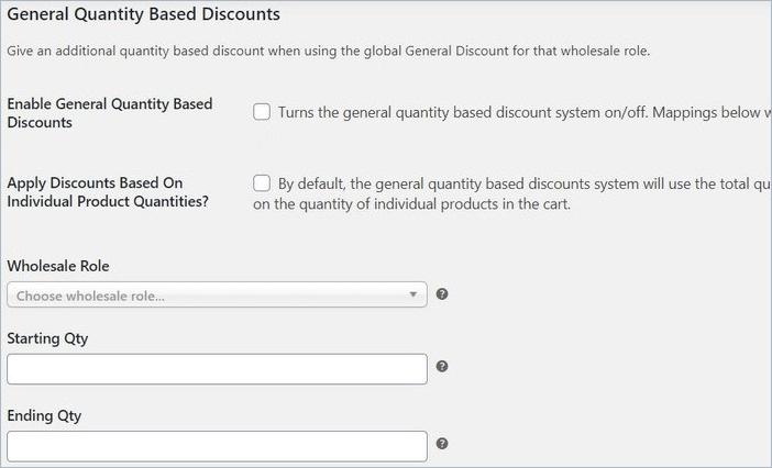 Woocommerce quantity based discount