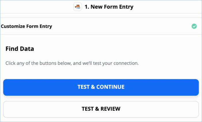 Connection test in Zapier