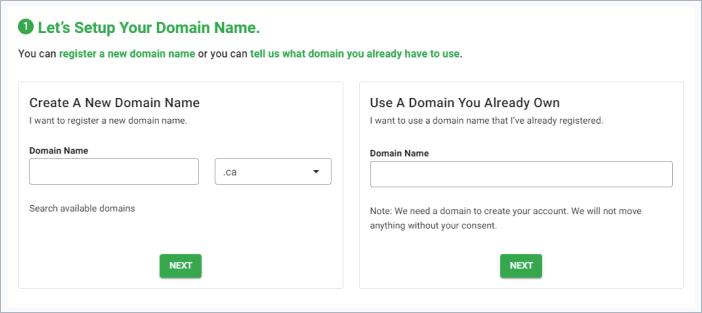 GreenGeeks setup domain name