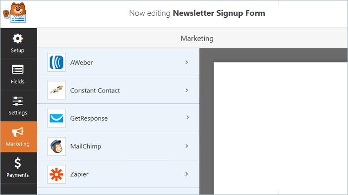 Marketing Settings in WPForms