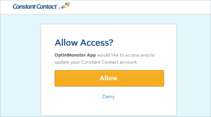 allow constant contact access