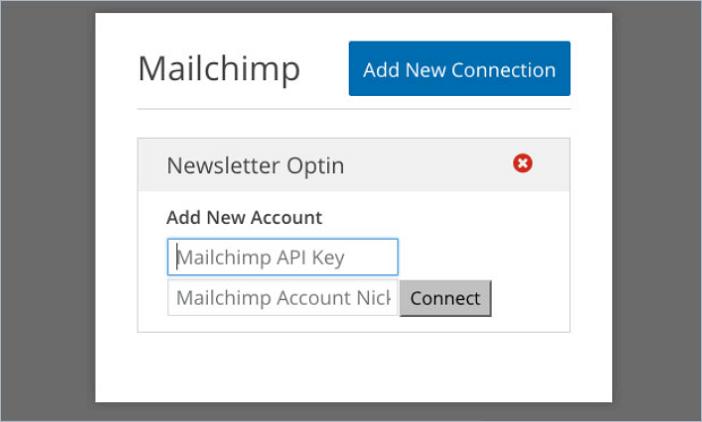 enter MailChimp API Key section on WPForms
