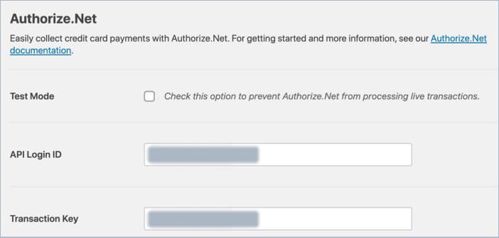 authorize net payment form payment key