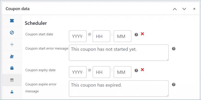 coupon scheduler